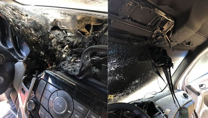 GMP's warning after image of car fire caused by hand sanitiser goes viral, The Manc