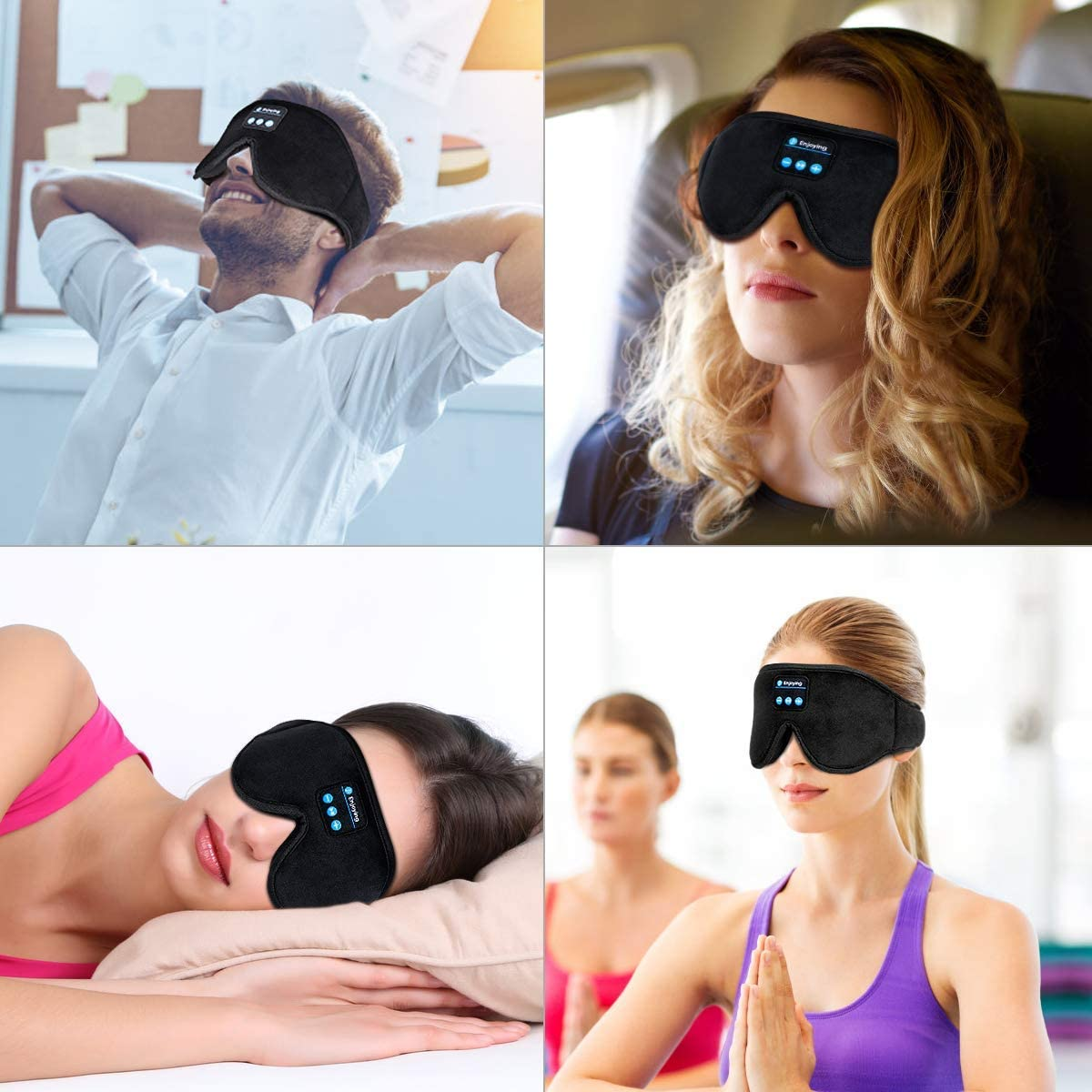 This sleeping eye mask has built-in bluetooth headphones, The Manc