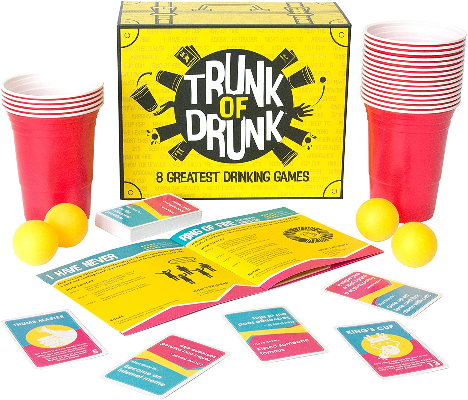 This box has eight popular drinking games all rolled into one, The Manc