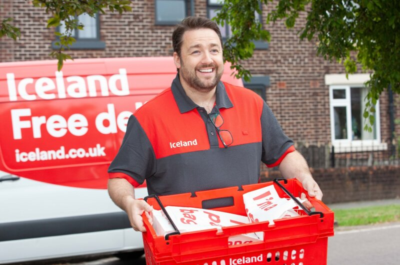 Jason Manford did a round as an Iceland delivery driver in Manchester today, The Manc