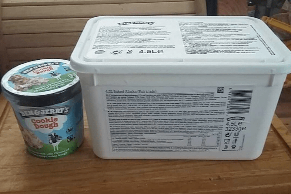 You can now get huge 4.5 litre tubs of Ben & Jerry's from B&M for only £3.50, The Manc