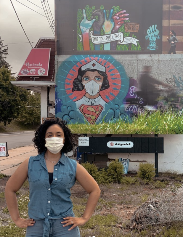 This incredible quarantine mural in New Jersey might look a bit familiar to Mancunians, The Manc