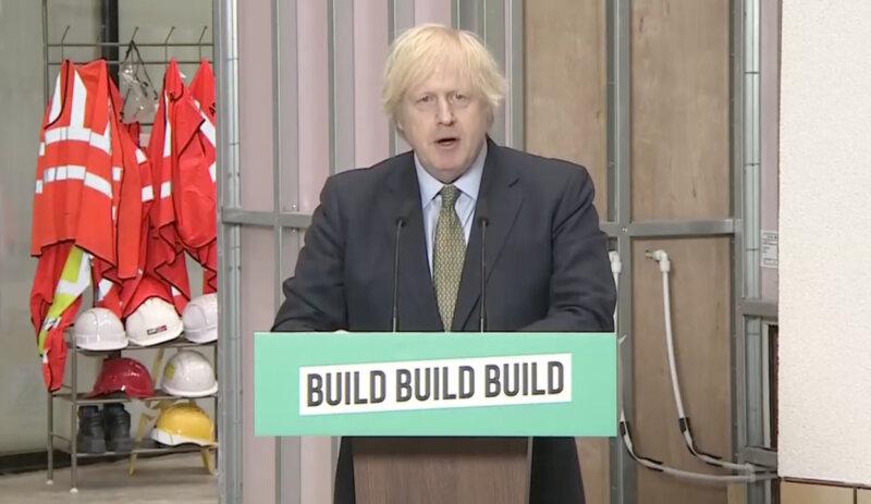 Prime Minister Boris Johnson outlines new UK affordable housing plan, The Manc