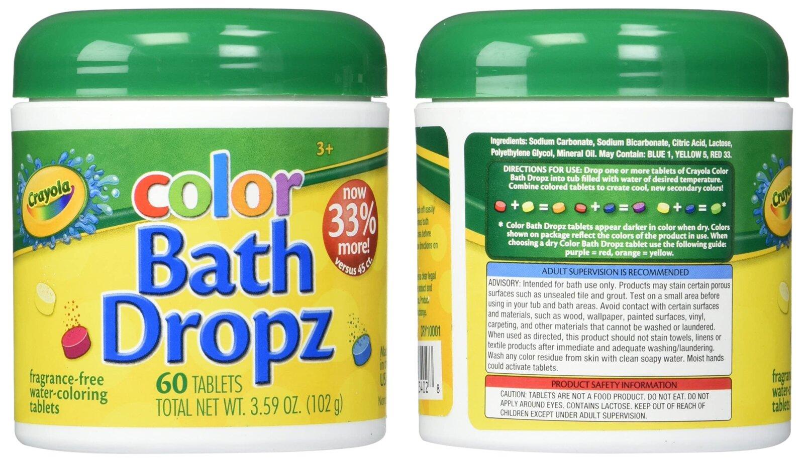 These Crayola colour 'bath dropz' help make bath time fun for kids, The Manc