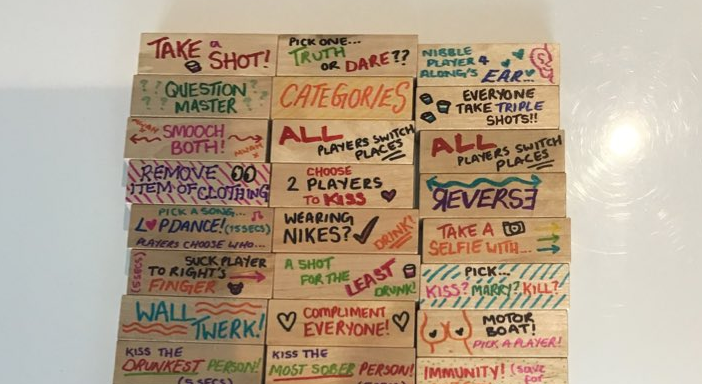 Woman goes viral after creating her own drinking game with Jenga blocks, The Manc