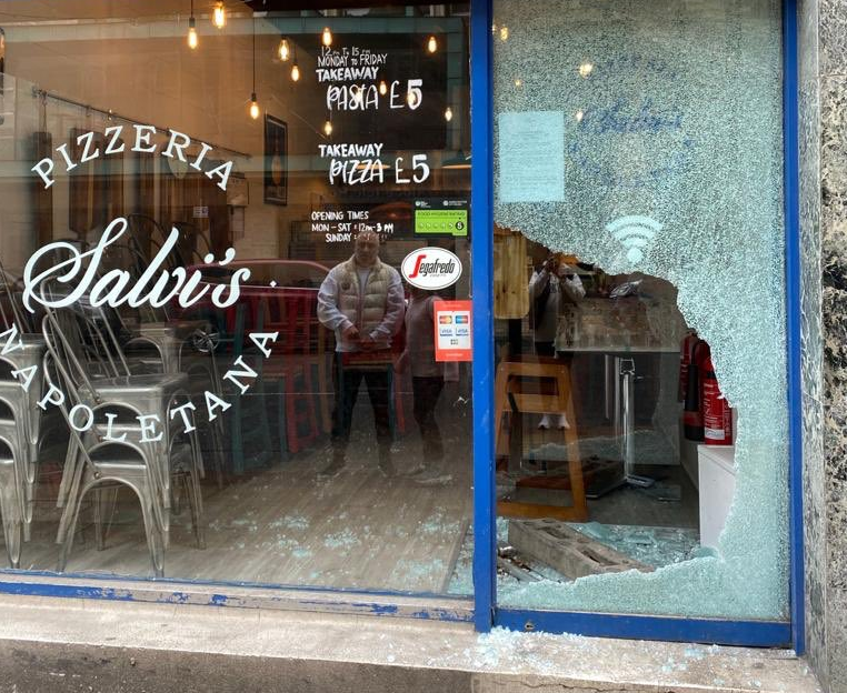 Salvi's delay reopening after burglars cause thousands of pounds of damage, The Manc