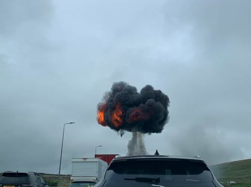 Huge 'fireball explosion' shuts down the M62, The Manc