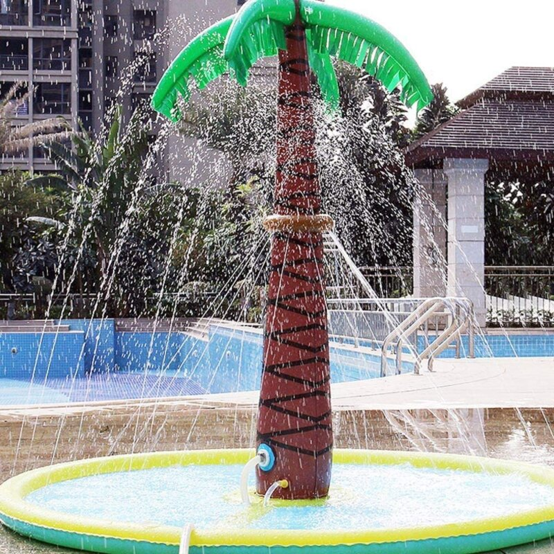 This inflatable palm tree water sprayer is perfect for the warm weather this weekend, The Manc