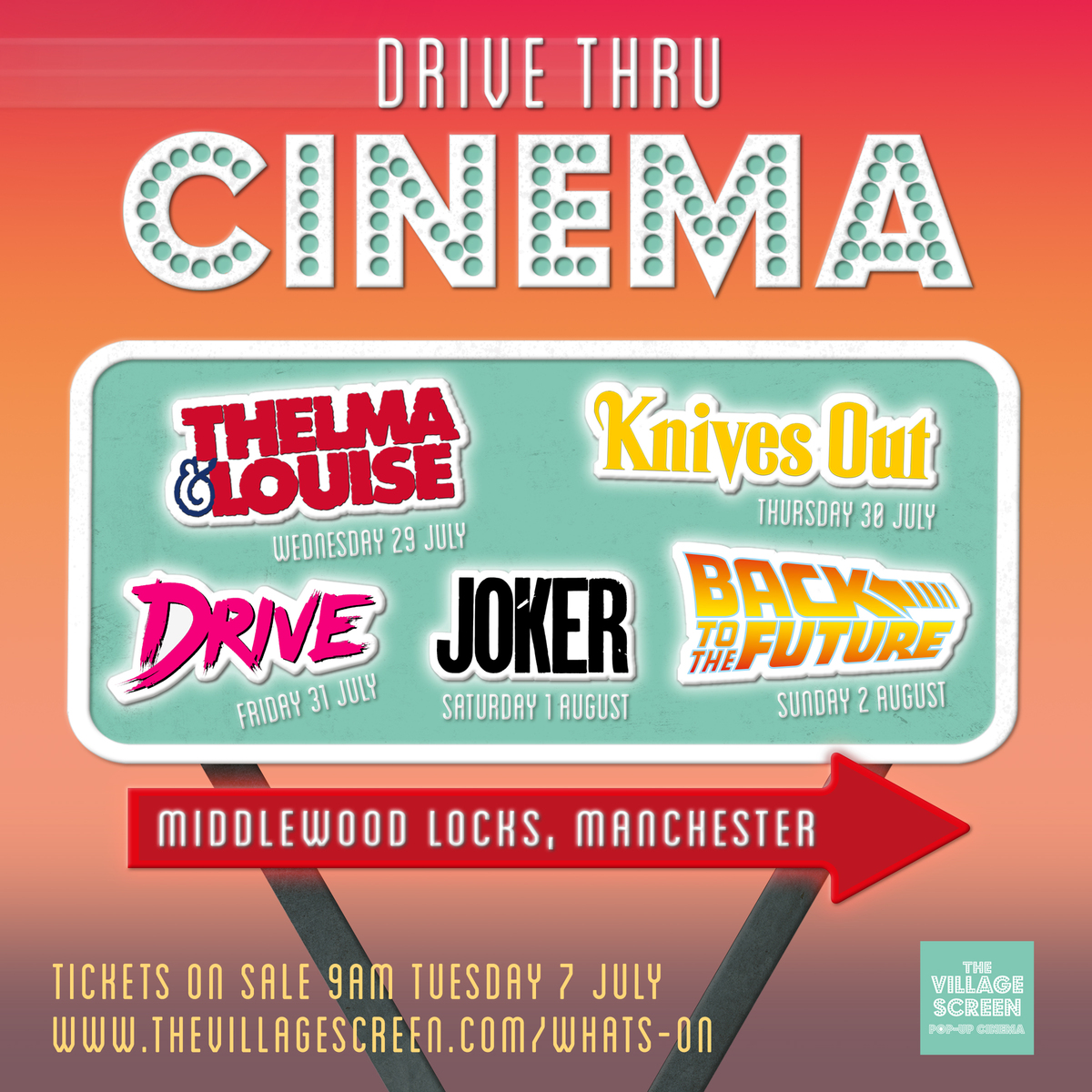 A drive-thru cinema with food, drink and DJ entertainment is coming to Salford, The Manc