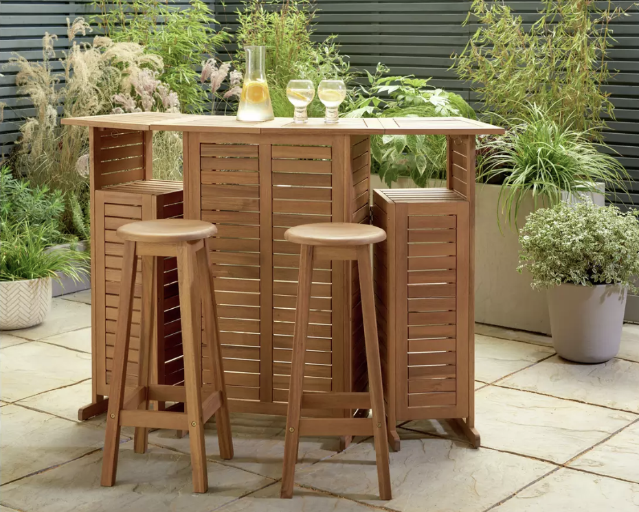 Argos has launched a foldable bar and it's perfect for the garden, The Manc