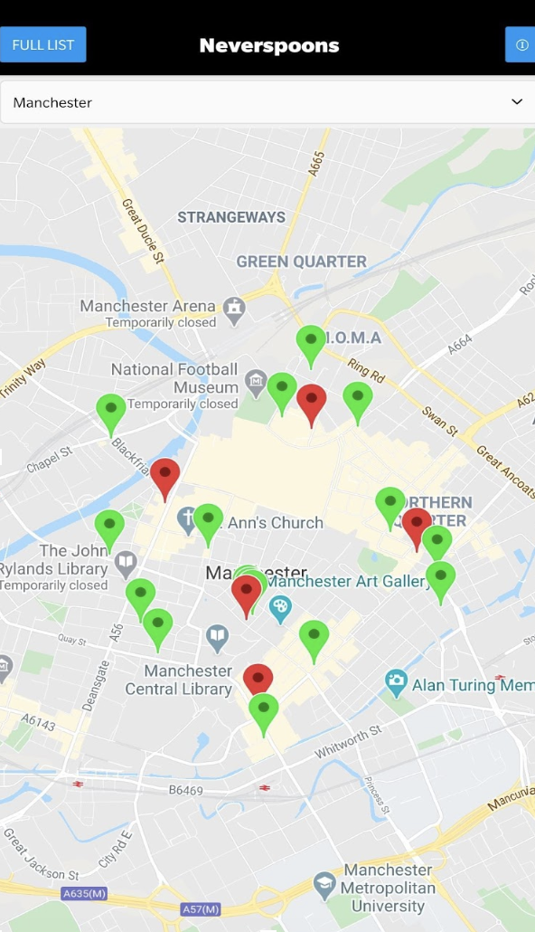 The 'Neverspoons' app that encourages you to drink at independent pubs instead of Wetherspoons, The Manc