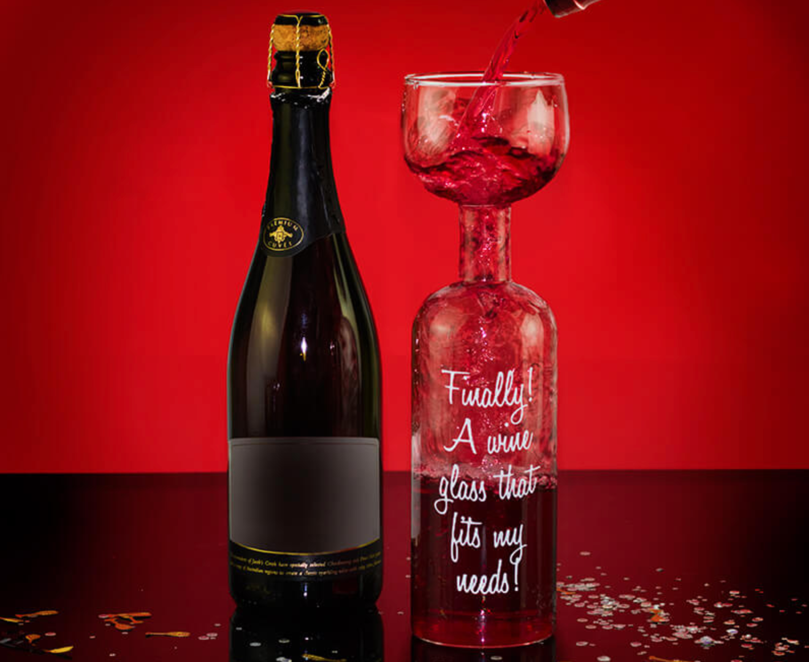 This 'wine bottle' glass is the perfect gift for those who only want one drink, The Manc