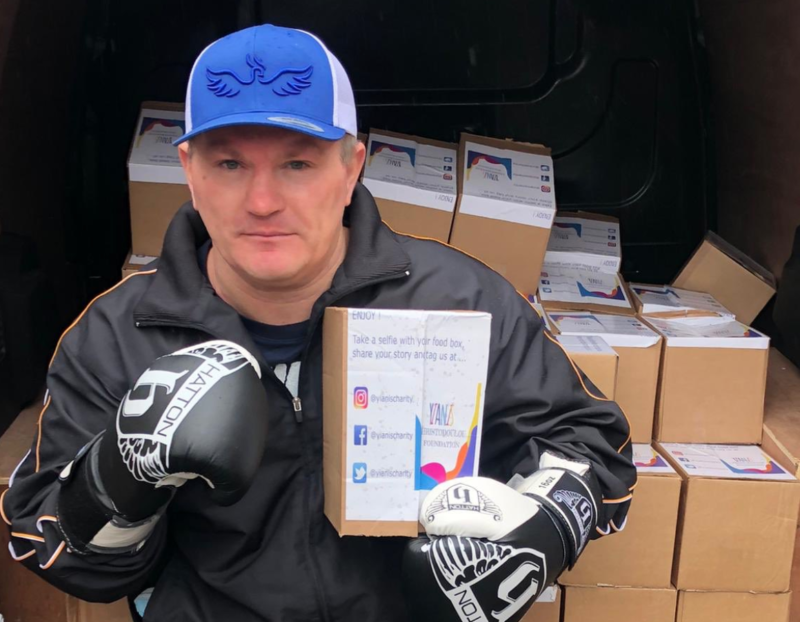 Ricky Hatton delivered thousands of care packages to Manchester's homeless this week, The Manc
