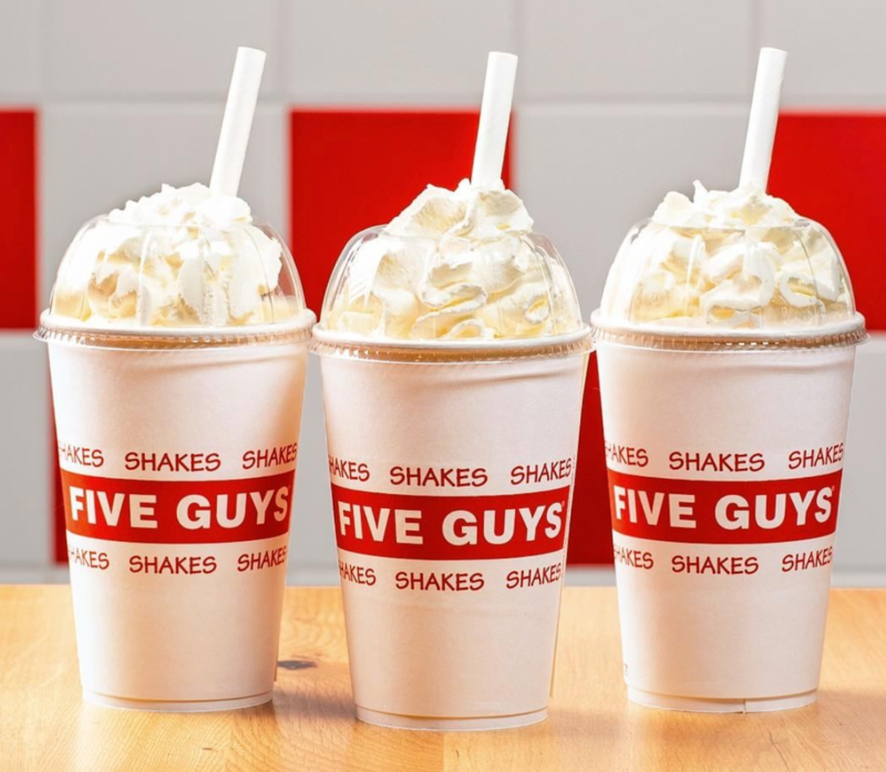 Five Guys has added three new shakes to its menu and they're based on classic desserts, The Manc