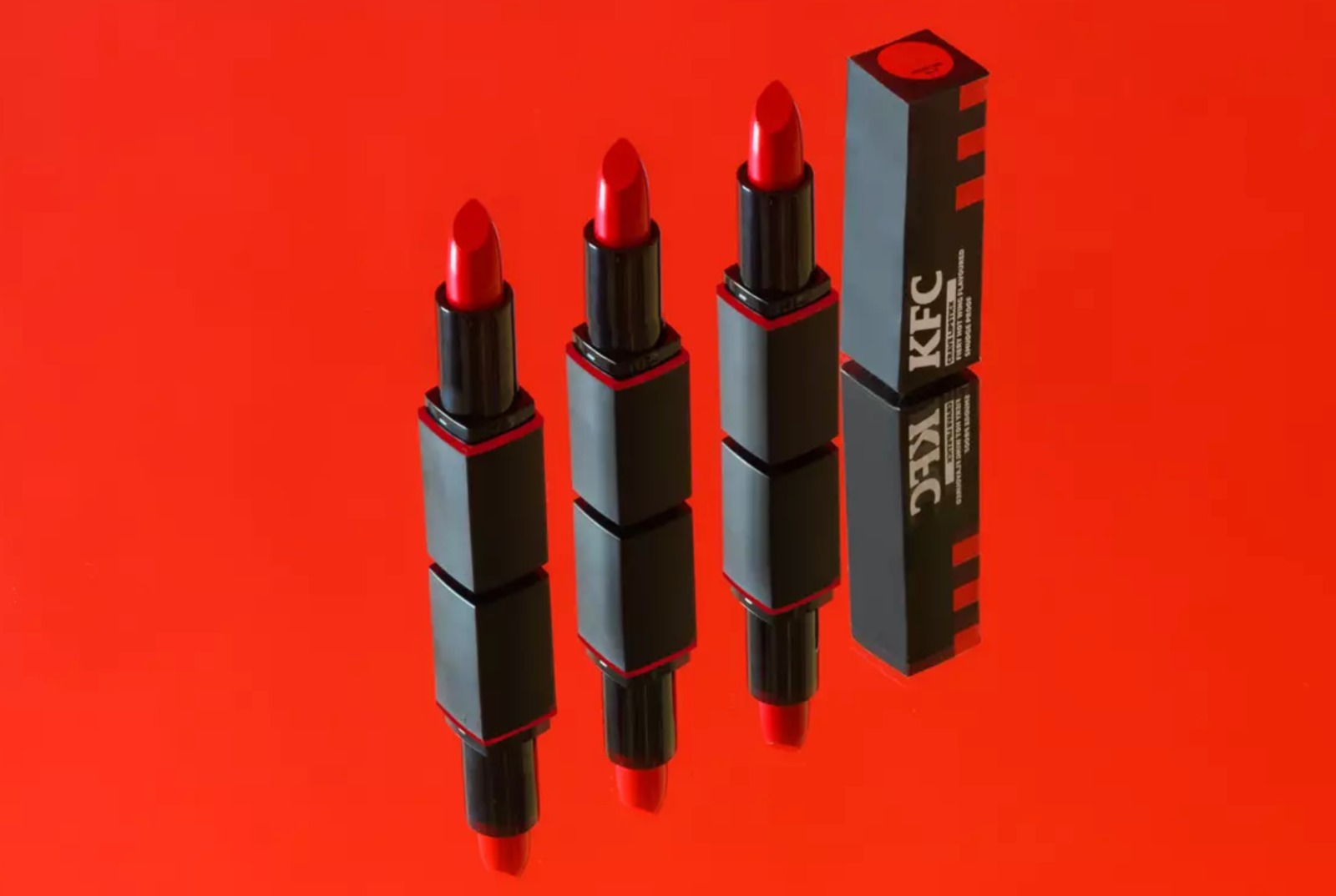 KFC has just launched a 'bucket red' lipstick that tastes like hot wings, The Manc