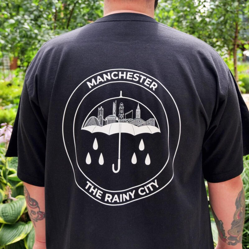 Fly the flag for Manchester with this Rainy City t-shirt, The Manc