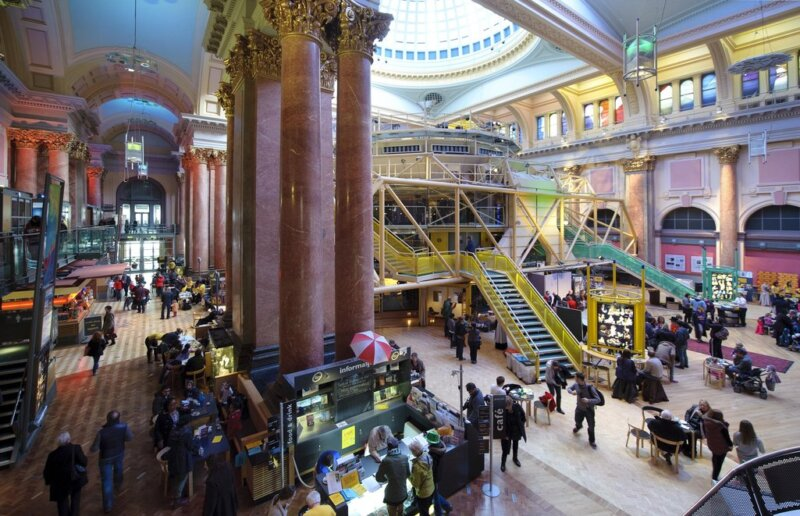 Royal Exchange Theatre to be wrapped in pink tape as the struggling venue remains closed, The Manc