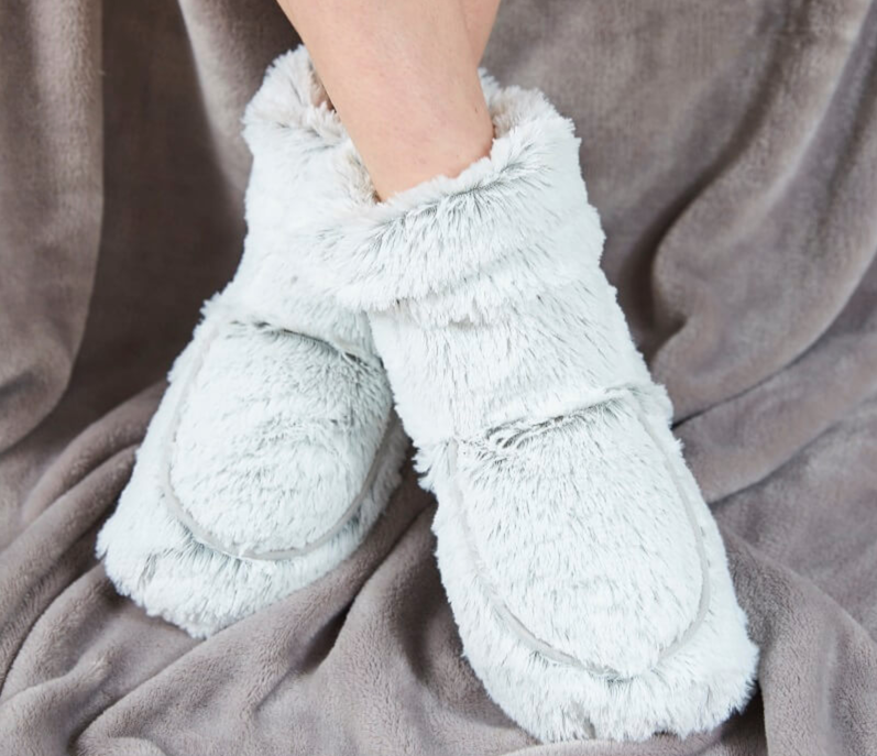 These fluffy slipper boots can be popped in the microwave to keep feet toasty warm, The Manc