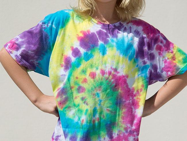 Multi-colour tie-dye t-shirt