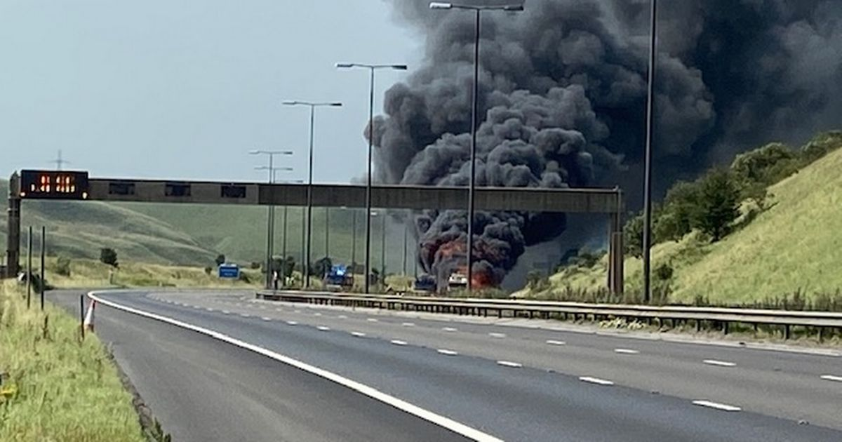 M62 closed in both directions after huge fire breaks out, The Manc