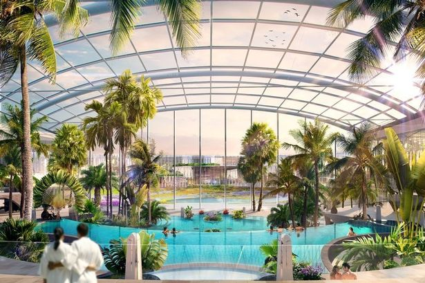 Latest update on Trafford Park's £250m upcoming water park and wellbeing resort, The Manc