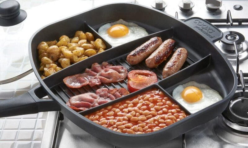 This multi-section frying pan is perfect for lazy cookers, The Manc
