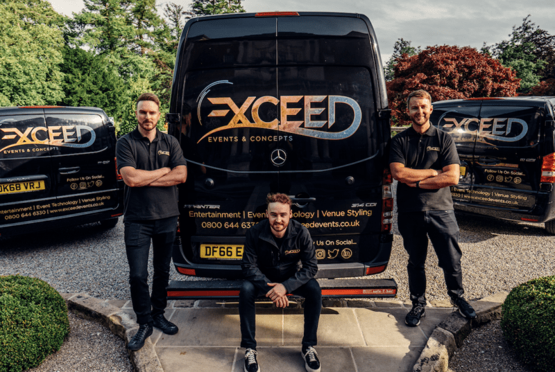 North West events specialists Scene My Event rebrand as Exceed Events – seeing high booking demands through to 2023, The Manc