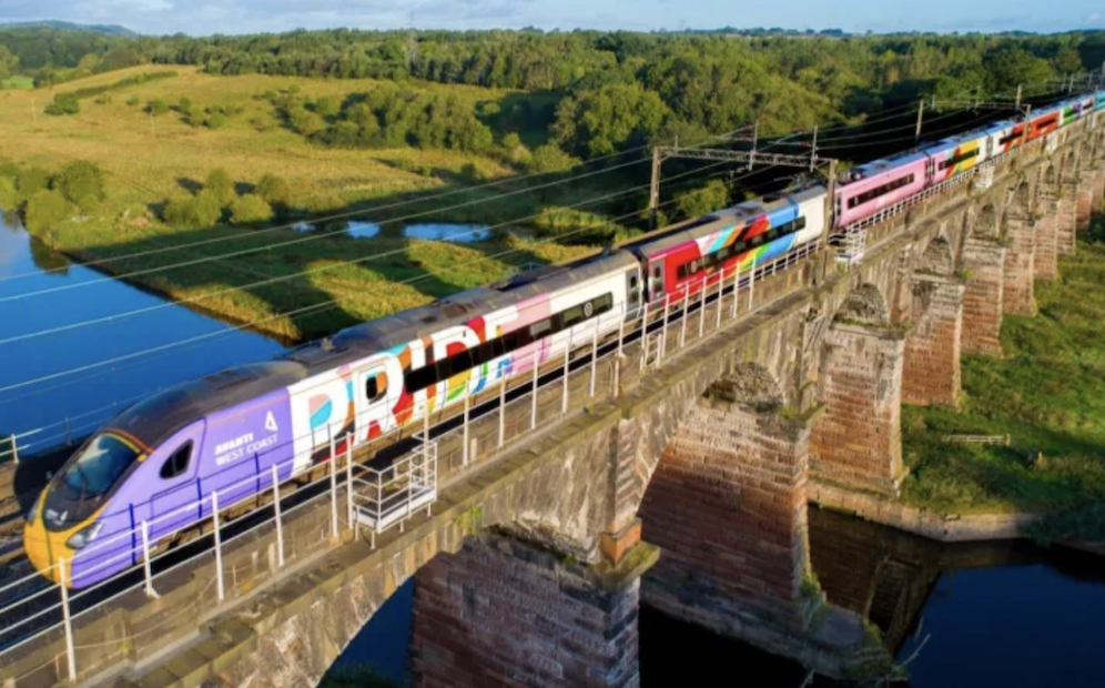 Avanti West Coast Pride Train – with all LGBTQ+ staff – arrives at Manchester Piccadilly, The Manc