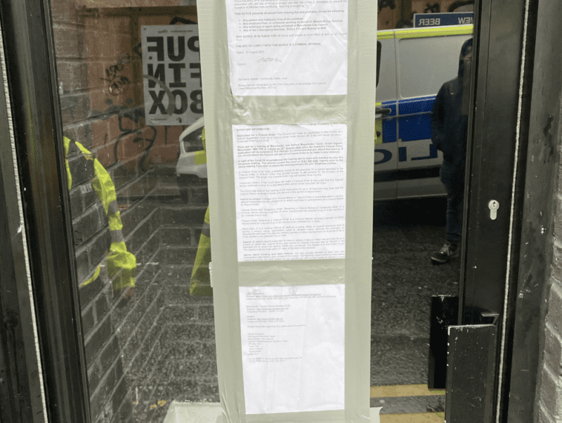 'Awful' Northern Quarter premises shut down by police after hosting repeated 'COVID parties', The Manc