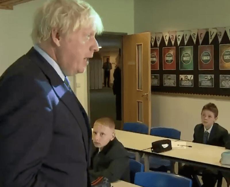 Tweet goes viral as kids shown cramped in corner during Boris Johnson classroom talk, The Manc