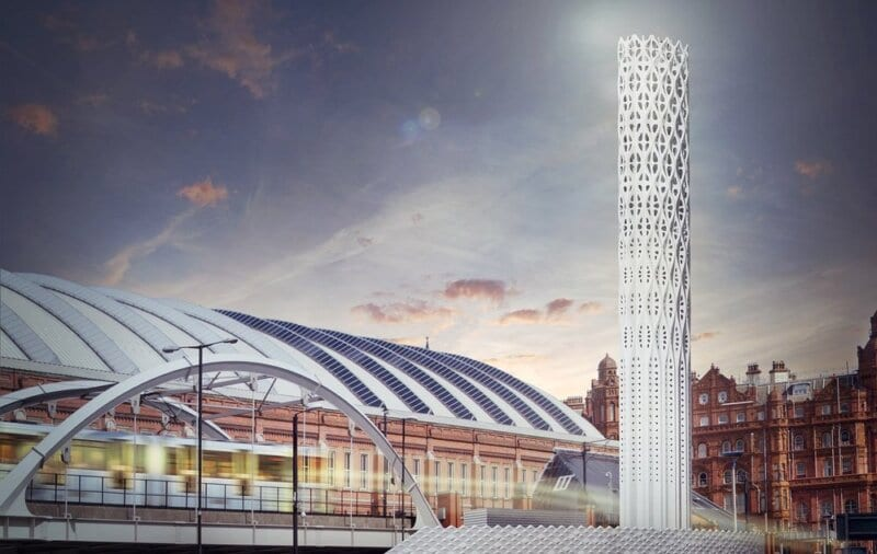 Manchester's new 'Tower of Light' feature is now finished and this is what it means, The Manc