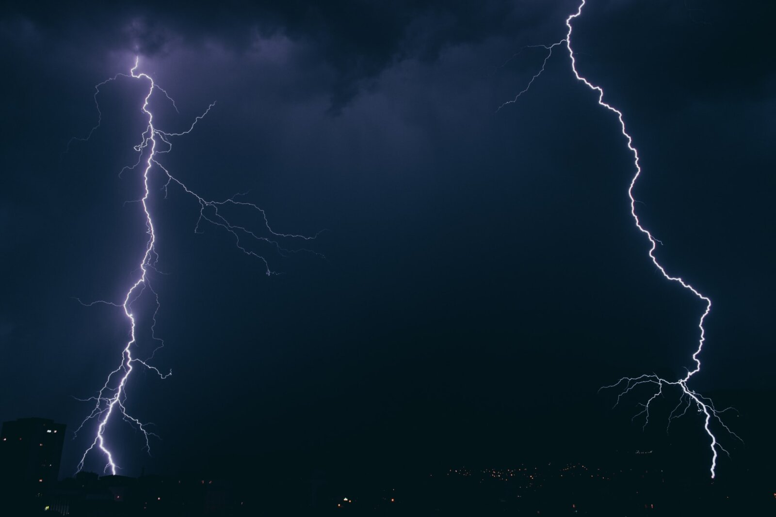 Footage shows Greater Manchester engulfed in biblical thunderstorms last night, The Manc
