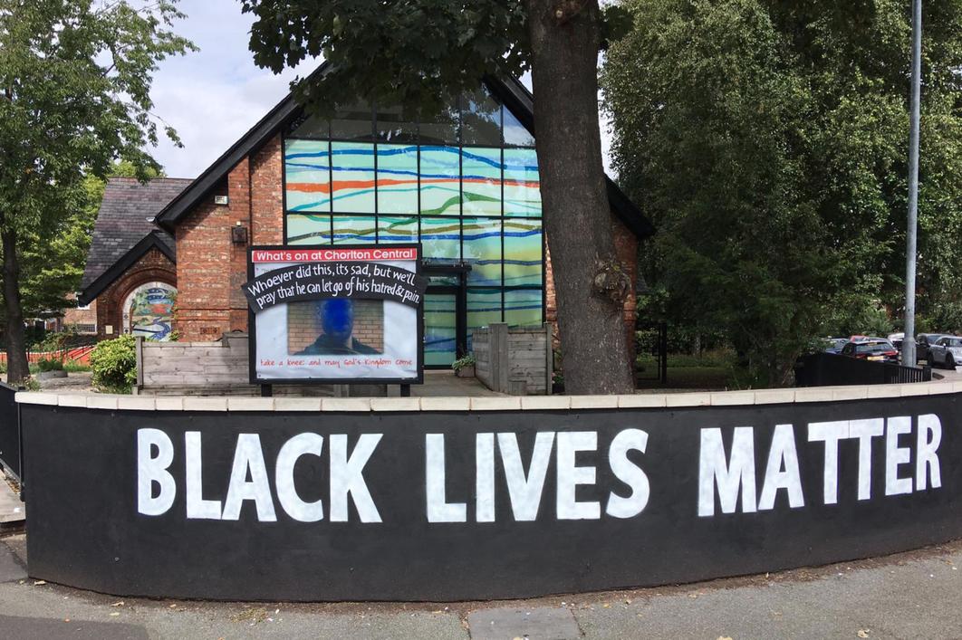 Chorlton church respond to vandals who defaced their George Floyd memorial, The Manc