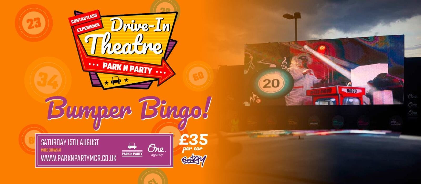 A massive drive-in Bumper Bingo event is coming to Manchester this weekend, The Manc