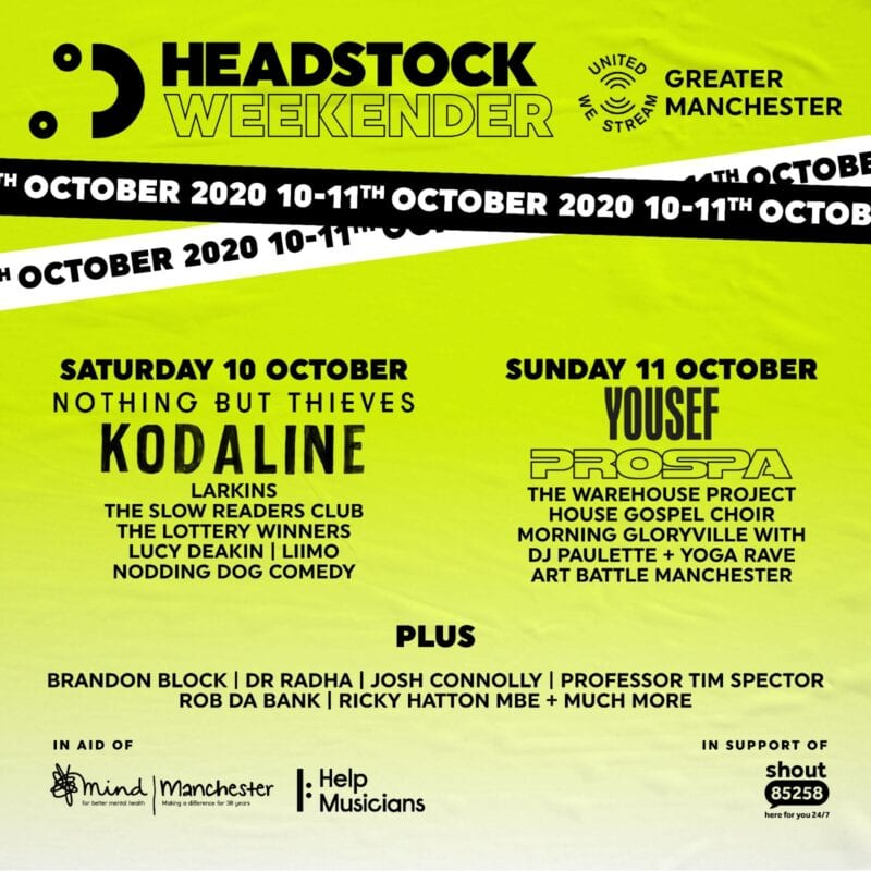 New virtual music and mental wellbeing festival Headstock announces bumper lineup, The Manc