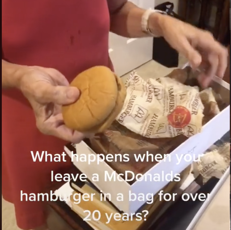 Grandma opens McDonald's meal after keeping it in a closet for 24 years, The Manc