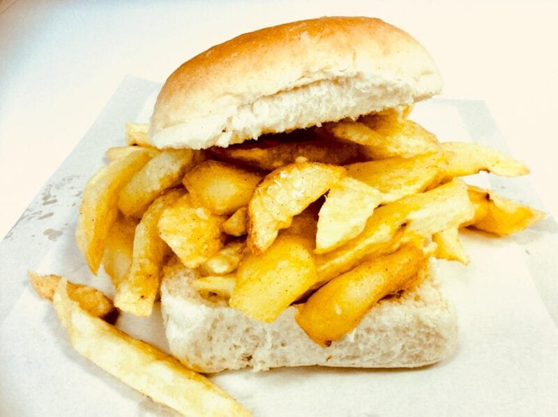 The correct name for chips served in a bread roll has finally been revealed, The Manc