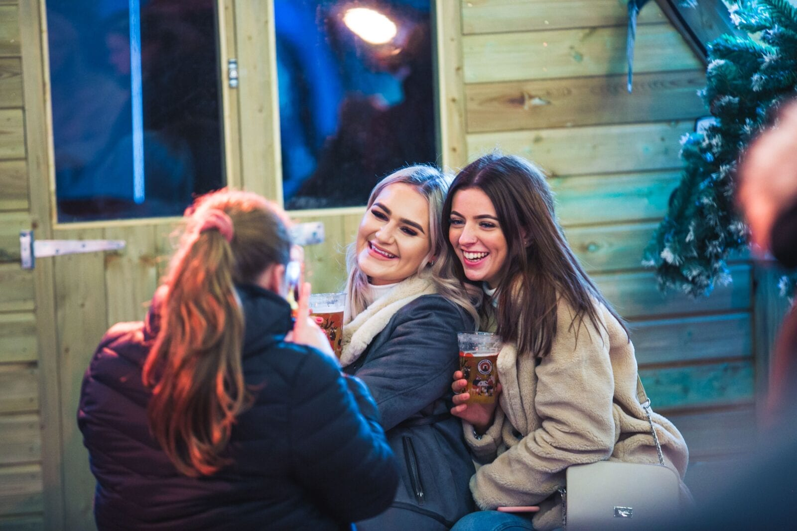 Bar Hütte takes over Great Northern square with music, mince pies and private alpine cabins, The Manc