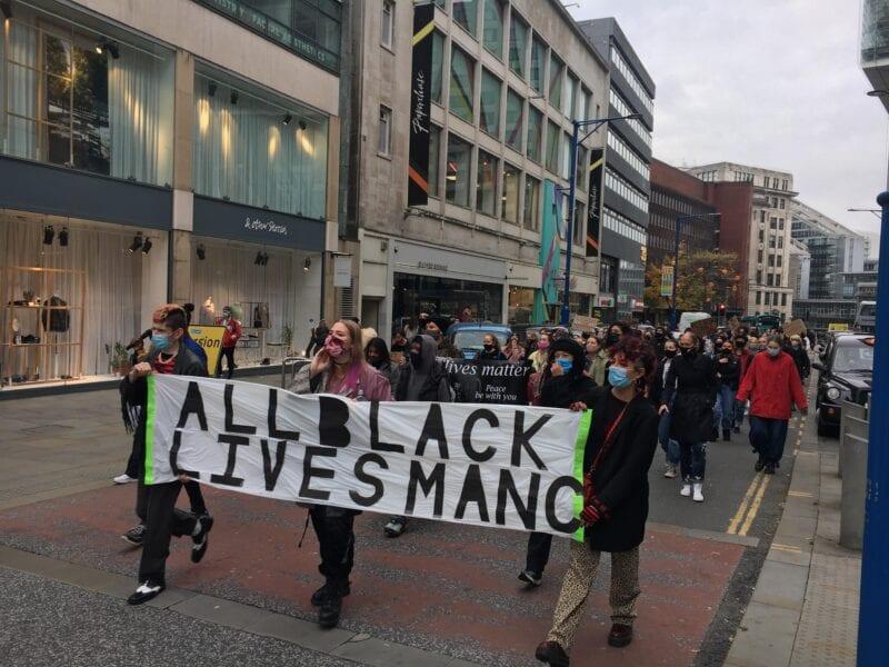 'Our demands don't wait for a pandemic': Black Lives Matter protestors march through city centre, The Manc