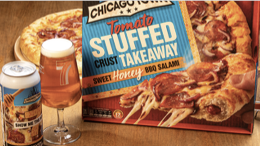 Seven Bro7hers teams up with Chicago Town to produce a pizza-flavoured beer, The Manc