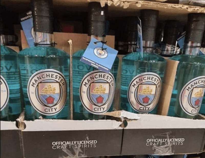 Man City Raspberry Vodka has apparently been spotted at Costco, The Manc
