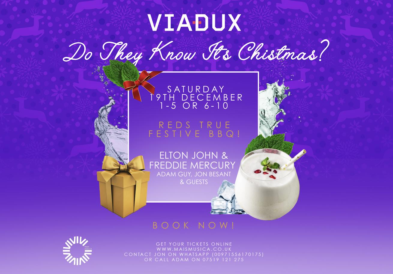 Viadux host Freddie Mercury and Elton John tribute Christmas event – with grub from Red's True BBQ, The Manc