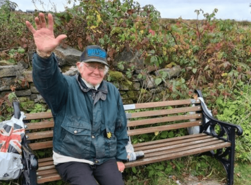 Locals raise funds to repair bench for Bolton's 'waving man' after it was destroyed in a road collision, The Manc