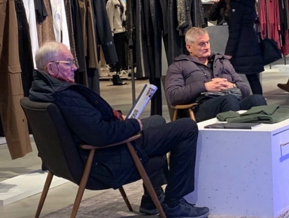 There's an Instagram account dedicated to pictures of miserable men on shopping trips, The Manc