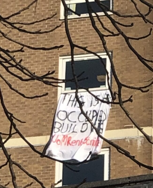 Students occupying Fallowfield tower block have WIFI cut off overnight amid ongoing rent strike protests, The Manc