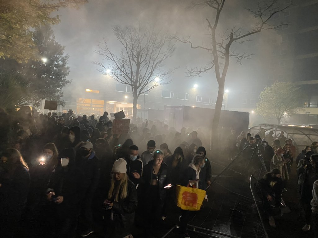 Inside the Manchester University protest that saw 'security' fences torn down, The Manc