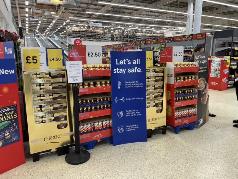 Large supermarkets are closing off parts of stores to limit access to 'non-essentials', The Manc