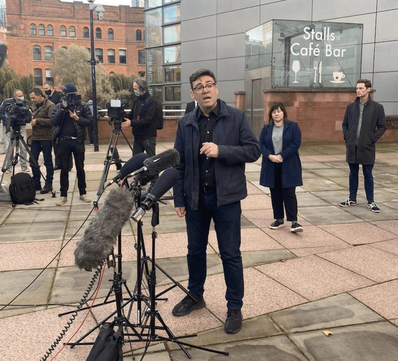 """Andy Burnham has said the government's Christmas COVID rules are """"allowing too much"""", The Manc"""