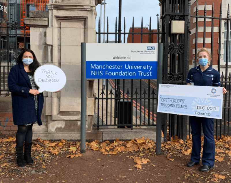 Deliveroo makes £100,000 donation to Manchester's heroic NHS staff in recognition of their 'incredible work', The Manc