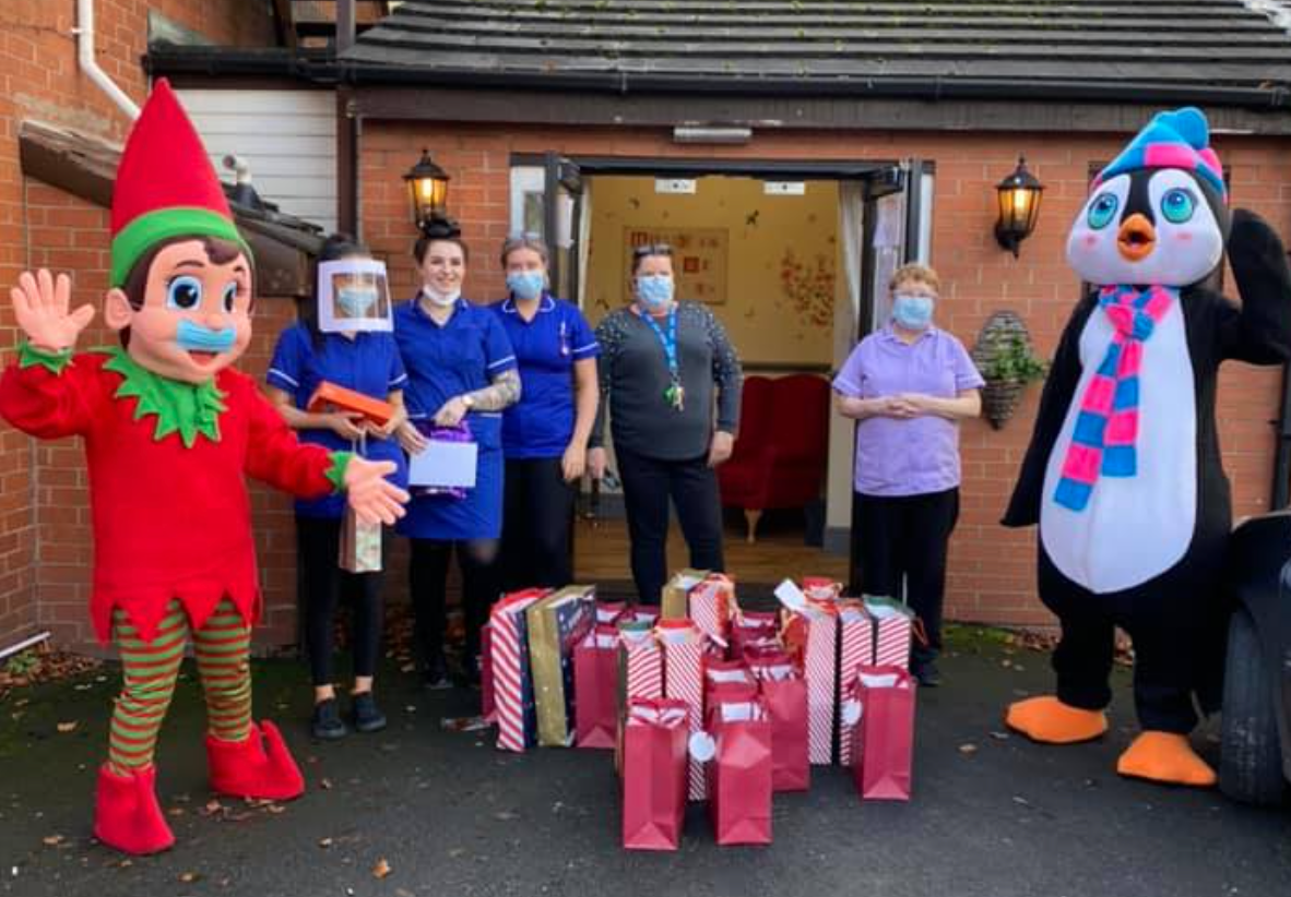 Community heroes in Rochdale deliver hundreds of festive gift boxes to care home residents, The Manc